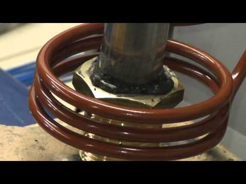 Induction Brazing Brass to Steel