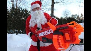 Nerf War: Santa Claus Hunt
