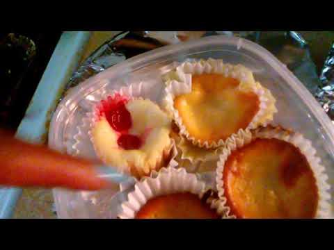 Mini cheesecakes are done