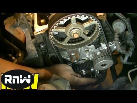 Honda Civic 1.7L SOHC Timing Belt, Tensioner, Water Pump Replacement Part 4