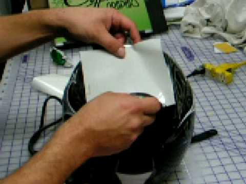 Installing Vinyl Graphics on curved surfaces.