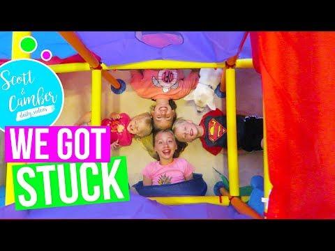 KIDS BUILD EPIC DIY FORT!! CRANIUM MEGA FORT! TRAPPED IN A TUNNEL!
