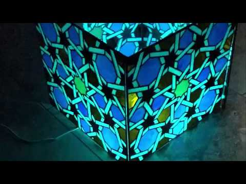 Alhambra Designs Geometric Stained Glass Lamp Islamic Bespoke Window Moorish Andalucian Golden Ratio