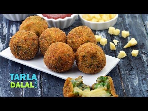 Potato Cheese Stuffed Balls by Tarla Dalal