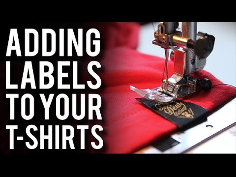 Adding Labels to your T-Shirts. Where to get them & How to put em' on