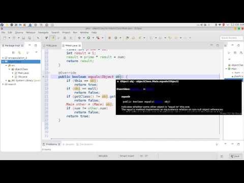 159 java Object Class toString hashCode equals استخدام الطرق لكلاس اوبجكت