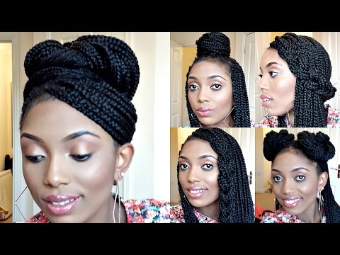 Styling Box Braids/ 6 Simple And  Elegant Styles