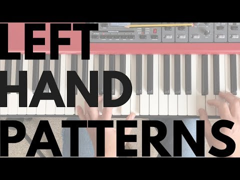 Three Left Hand Patterns You Need To Know || Piano Questions Answered