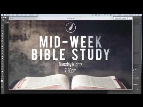 Adobe Photoshop CC - How to make an announcement church slide