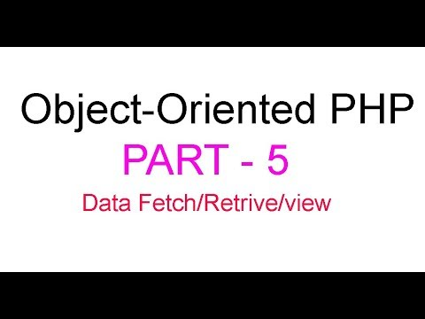 Object-Oriented PHP Bangla Tutorial Part-5 (Fetch data from database table)