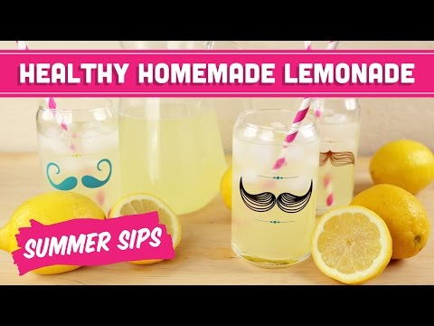 Healthy Homemade Lemonade! Summer Sips In Sixty Seconds - Mind Over Munch