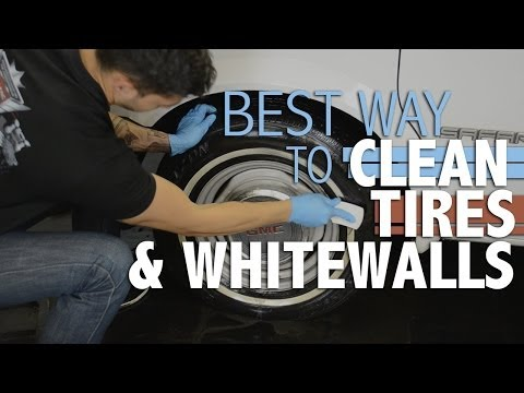 How to clean your tires and whitewall tires