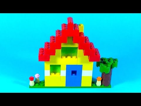 How To Make Lego HOUSE (Simple) - 10664 LEGO® Bricks and More Creative Tower Tutorial