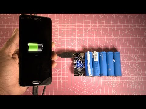 How to Make a Qualcomm Quick Charge 3.0 Power Bank from Scrap Laptop Battery - DIY