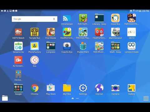 Pinning Apps - Samsung Tab for Edu [Part 1]