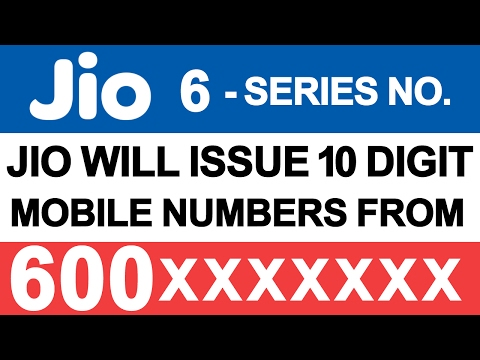 Reliance JIO 6-Series Mobile Numbers in INDIA | DoT | Mobile Telephone Numbering  Allotment System
