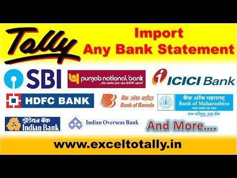 Any Bank e-Statement Import into Tally From Excel | English ☑️