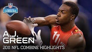 A.J. Green (Georgia, WR)   2011 NFL Combine Highlights