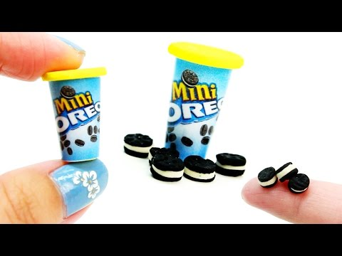 miniatures doll l how to make nabisco mini chocolate sandwich cookies DIY tutorial - DollHouse DIY ♥
