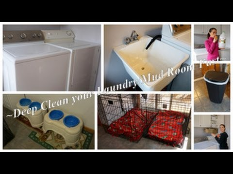 Deep Cleaning the Laundry Room Fast | Clean with Me