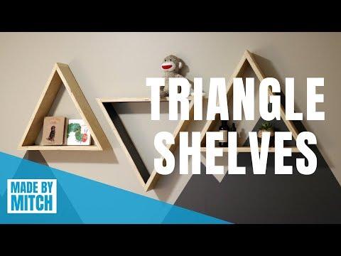 How to Make Triangle Shelves