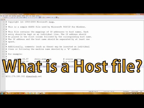 What is a Host File