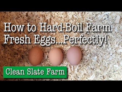 How to Hard-Boil Farm Fresh Eggs Perfectly