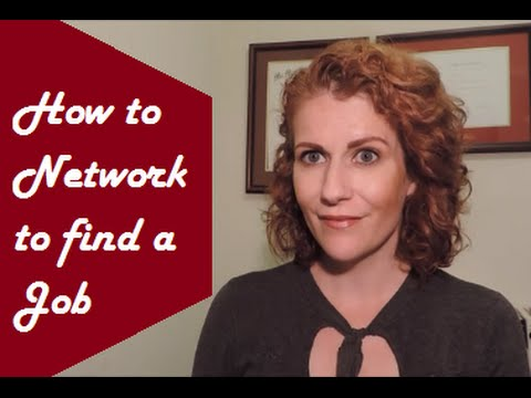 How to Network to Find a Job