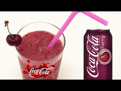 CHERRY COCA COLA smoothie / slushy & CHERRY COKE DIY Very Yummy!