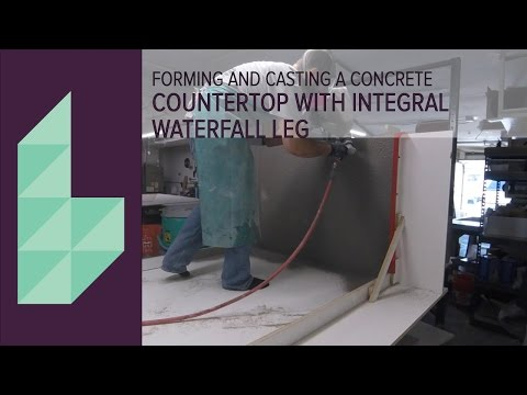 CASTING A CONCRETE COUNTERTOP WITH WATERFALL LEG