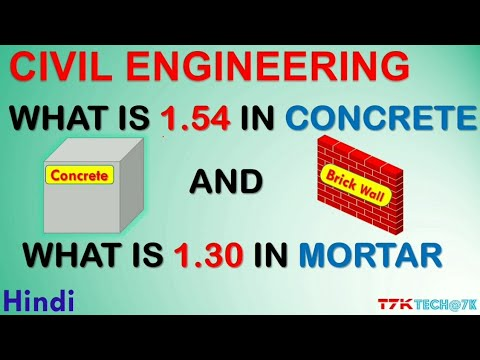 What is 1.54 in concrete and 1.30 in mortar