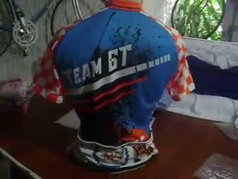 Team GT paint splash effect Bike jersey by Bikingthings