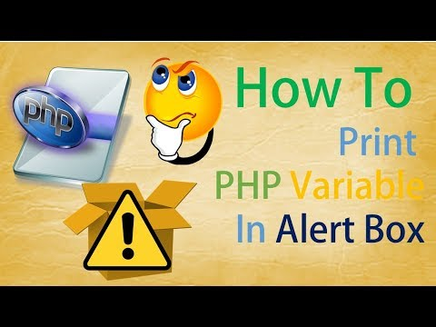How To Print PHP Variable In Alert Box ||  PHP tutorial || Engineering Portal ||