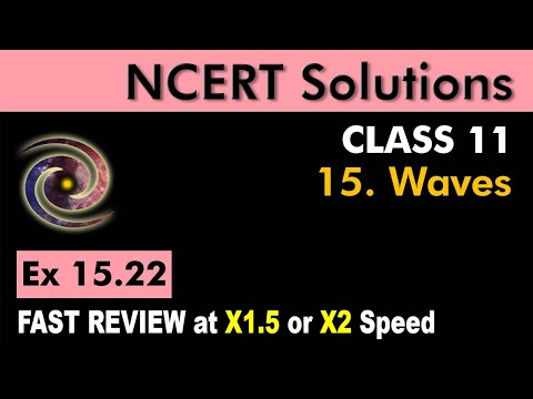Class 11 Physics NCERT Solutions | Ex 15.22 Chapter 15 | Waves