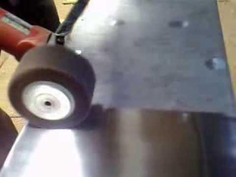 Mobile portable liner polisher for stainless steel sheet polishing and Sander and sanding