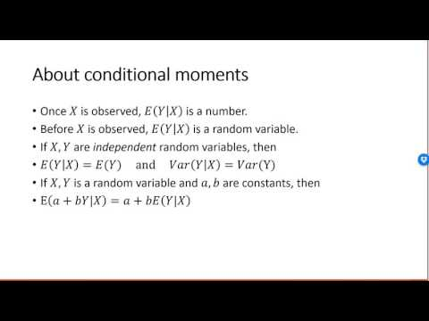 Conditional expectation and conditional variance