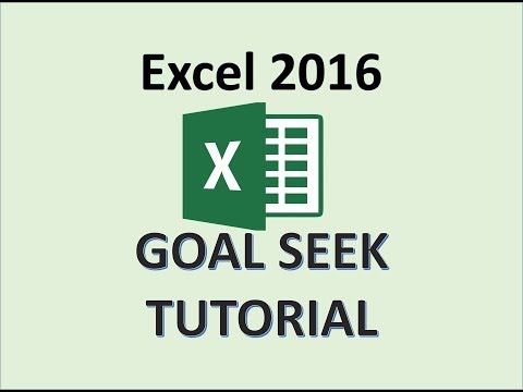 Excel 2016 - Goal Seek - How To Use Goal Seek in Excel - Formula and Function - Microsoft Office 365