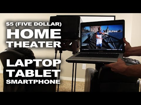 $5 Makeshift Home Theater - Easy Laptop Mod!