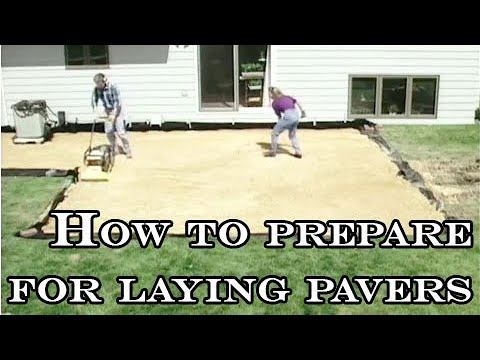 How to prepare for laying pavers