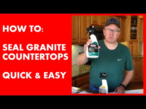 How to Seal Granite Counter Tops - Quick & Easy!