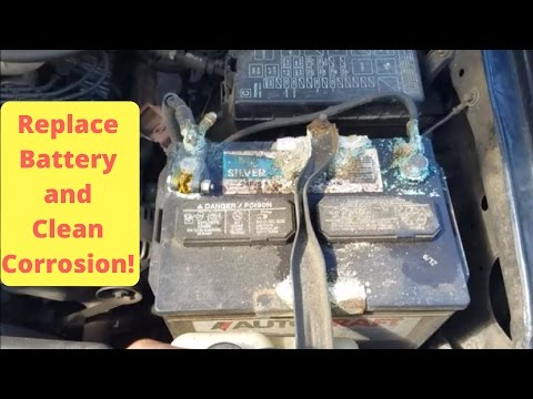 REPLACE CORRODED BATTERY | Toyota Tacoma