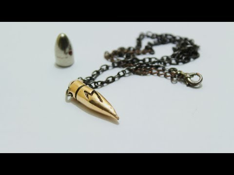 DIY Bullet Necklace - صنع قلادة من رصاصة