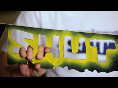 How to Make a Stencil to Paint Board | Custom Skateboard