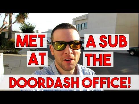MET A SUBSCRIBER AT THE DOORDASH OFFICE IN LA!