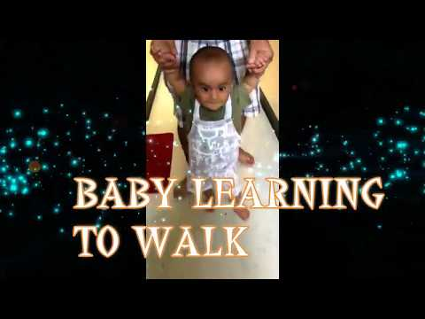 How to teach baby to walk-Walking practice