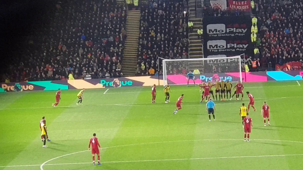 Trent Alexander Arnold free-kick vs Watford 18/19