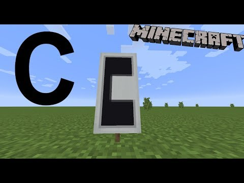 How to make the letter C in Minecraft!