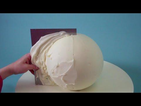 How To Make A Round Cake - Evil Cake Genius Globe Cake