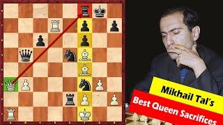 Top 5 Best Queen Sacrifices By Mikhail Tal