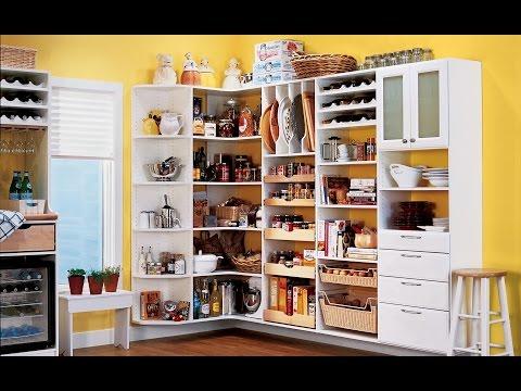Charming White Corner Pantry Organizing Kitchen
